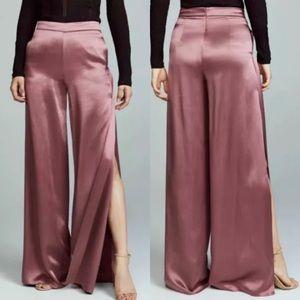 CUSHNIE ET OCHS Silk Mauve Pants Wide Leg Sz 8